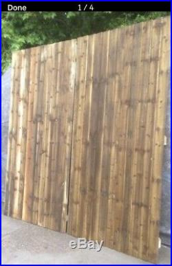 12ft Wooden Pressure Treated driveway double gates