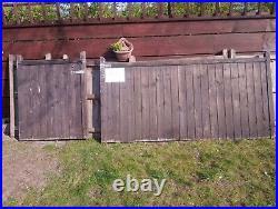12ft wooden driveway gates