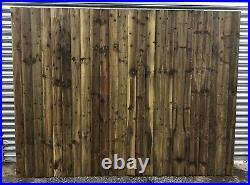 2.4m Wooden Pressure Treated Garden driveway double gates Pedestrian