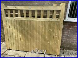 2 New Unused Wooden Driveway Gates. Heavy Duty Solid Gates