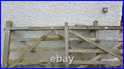 2 x Five Bar Wooden Farm / Driveway Gates 13ft long with all metal fixtures