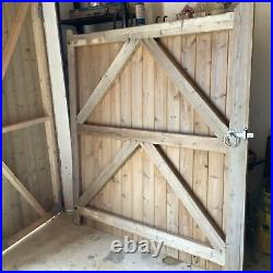 2 x Wooden Driveway Gates Custom Made by Main Line Timber
