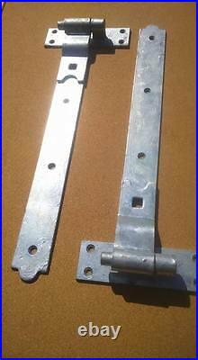 48 inch cranked hook & band hinges galvanised wooden gate doors driveway gates