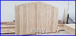 Accoya, Wooden drive way gates Arched FLB