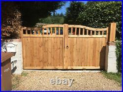 Beautiful Made to Measure Wooden Driveway/Garden Gates