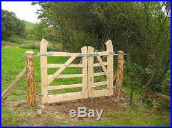 Bespoke wooden garden driveway gate, oak, handmade in the UK, solid wood gate