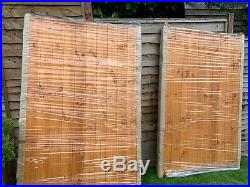 Brand new pair of Cannock Wooden Driveway gates 6ft high and 8ft wide and posts