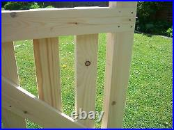 Budget RedWood Wooden Driveway Pair of Gates 3ft 6 high
