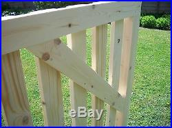 Budget redwood Wooden Driveway Pair of Gates 4ft High