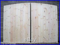 CUSTOM MADE'Arched Top' HEAVY DUTY Solid Boarded T/G Wooden Driveway Gates