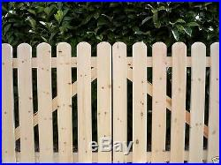 CUSTOM MADE PLANED SMOOTH'Cottage Style' Wooden Driveway Gates