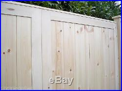 CUSTOM MADE'PREMIER' Heavy Duty Panelled Wooden Double Driveway Gates