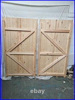 Carlton Tall Wooden Driveway Gates 2134mm W x 1995mm H PAIR