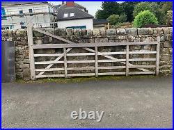 Curved heel wooden farm driveway gates by charlton