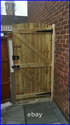 Custom made wooden driveway gates