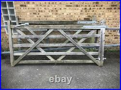 Double wooden driveway gates 8' by 4' each