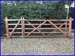 Double wooden driveway gates 9 plus 3. 4 high
