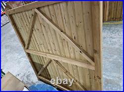 Drayton Tall Wooden Driveway Gates 3300mm W x 1800mm H PAIR