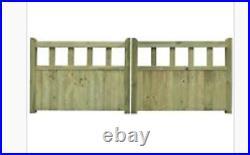 Drive gate handmade wooden cottage style driveway gates BESPOKE SIZES
