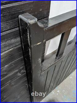 Driveway Double Gates 11ft x 4ft H wood wooden timber dual swing tanalised paint