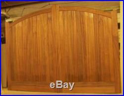 Driveway Gate Bespoke Arched Arch Wooden Timber Sapele Hardwood Gates 84x120