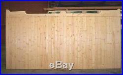 Driveway Gate Bespoke Wooden Timber Gunstock Softwood Gates Driveway 84x120