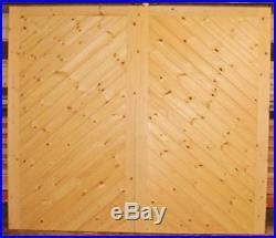 Driveway Gate Bespoke Wooden Timber Herringbone Softwood Gates 84x120