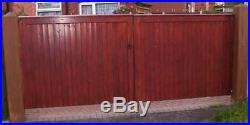 Driveway Gate Bespoke Wooden Timber Softwood Square Top With Capping 84x120