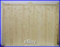 Driveway Gate Bespoke Wooden Timber Softwood Square Top With Horns 84 120