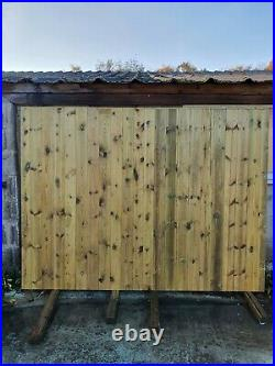 Driveway gate H180cm W240 Heavy Duty Redwood Treated Redwood Wooden Gate