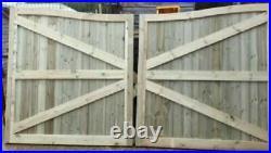 Driveway gate Swan Necks handmade wooden driveway gates Free DELIVERY