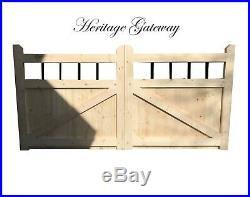 Driveway gates handmade wooden cottage style drive gates metal spindle