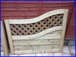 Elite Meloir Double Wooden Driveway Gates 2.7m Treated Timber