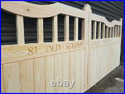 Elmhirst Style Driveway Gates (Type 1) Wooden gates