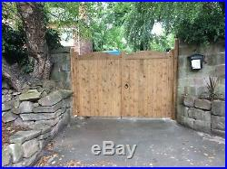 Glamis Heavy Duty Wooden Driveway Gates Timber Double Entrance Bespoke