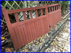 HEAVY DUTY WOODEN DRIVEWAY GATES Size (EACH) 122cm W x 90 cm H x 4.5cm depth