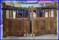 Hardwood Oak Wooden Timber Driveway Gates Warsop Church Rectory Antique Gates