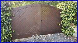 Heavy Duty Iroko Wooden Double Driveway Gates for 12 ft opening