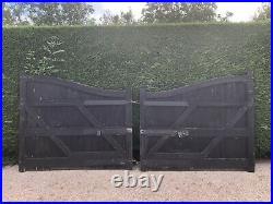 Heavy Duty Large Oak Wooden Twin Driveway Gates. Excellent quality. 2 x 2m