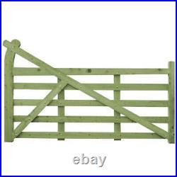 Heavy Duty Wooden Driveway Gate Ranch Gates Tanalised Green Treated 5 Bar