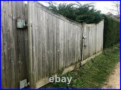 Heavy Duty Wooden Driveway Gates 16ft Wide / 4.87m