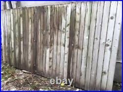 Heavy Duty Wooden Semi Braced Garden Gate Driveway Fence Multiple Sizes