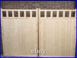 Heavy Duty Wooden driveway gates Hand Made To Measure For You