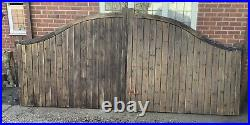 Heavy Wooden Swan Neck Driveway Gates Arched Gates