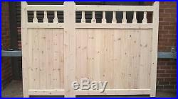 Kent Style Timber / Wooden / 3/4 + 1/4 Offset Split / Driveway Gates