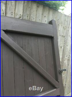 Large Bespoke Made Pair Wooden Driveway Gates 7cm Thick. Cost £2400 When Made