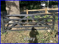 Large Black 5 Bar Wooden Gate For Driveway
