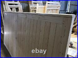 Large Wooden Driveway Gates Flat Top Capping Rail Design The Capped Grange Gate