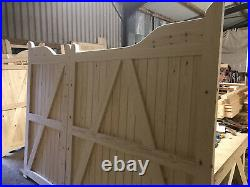 Large Wooden Driveway Gates New Custom Made Drop Step Design The Valley Gate