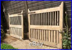 Large Wooden/Metal Driveway Gates